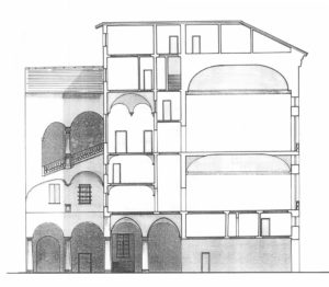 Sezione di Palazzo Giustiniani Franzoni